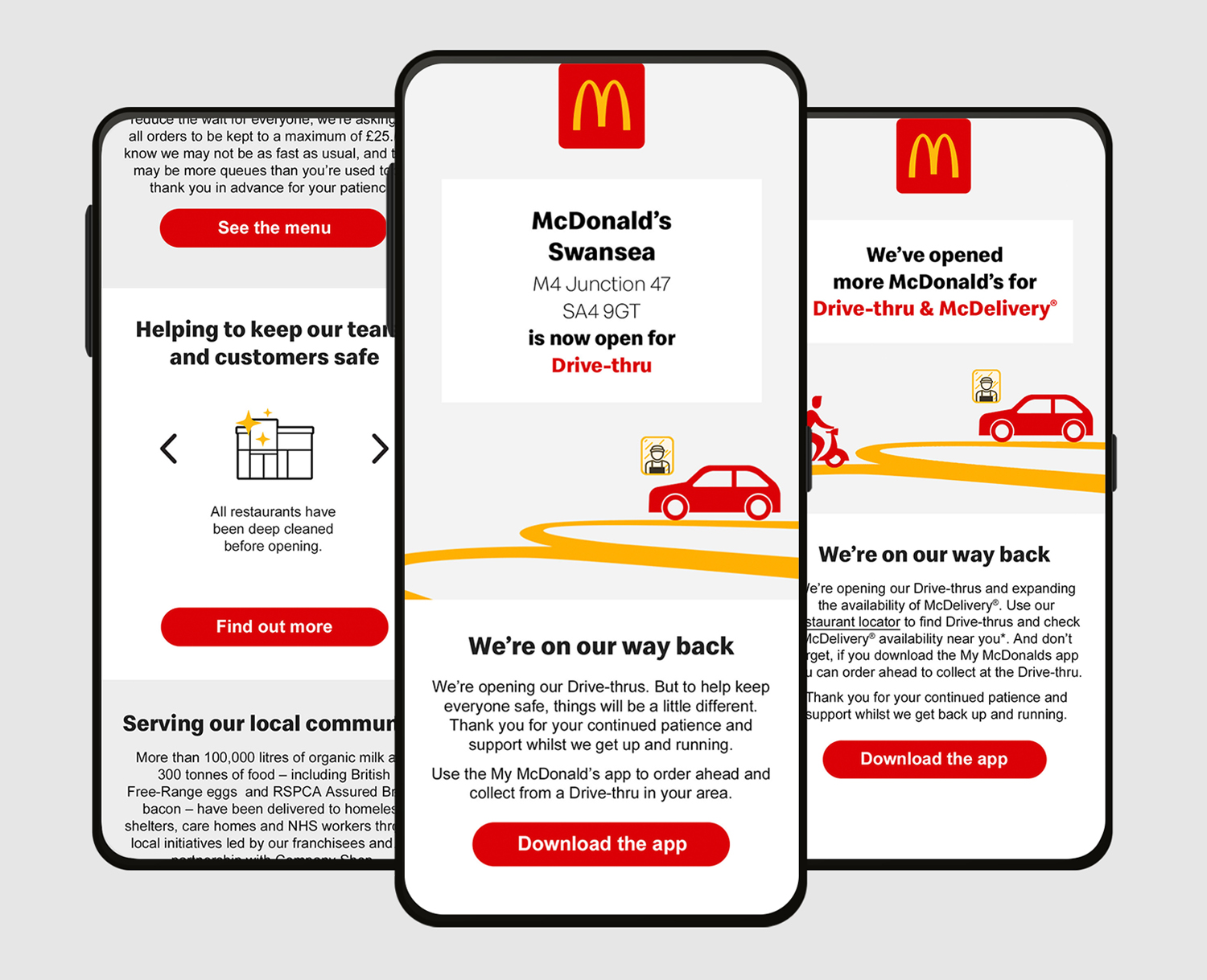 Helping McDonald's customers to enjoy their favourites safely